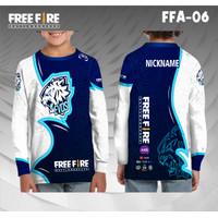 Jersey e sport anak free fire evos baju kaos gamer ff lengan panjang