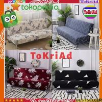SARUNG SOFA BED motif cantik - COVER kursi SOFA BED bahan kain elastis - RANDOM / ACAK