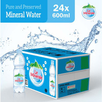 Air Mineral Le Minerale 600ml - 1 Dus isi 24 Botol