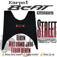 KARPET MOTOR BEAT STREET/ESP/CW TAHUN 2017-2019 BAHAN NOMAD