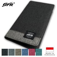 JFR Fashion Dompet Pria Bahan Kulit Canvas JP15 - Hitam