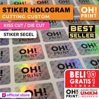 Cetak Stiker / Print Sticker Label Hologram A3+ & KISS CUT