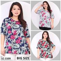 Kaos Oblong Wanita Baju Murah Atasan Motif Bunga Bunga Jumbo LC1509Big