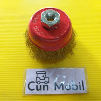 Sikat mangkok wire brush crimped 3""