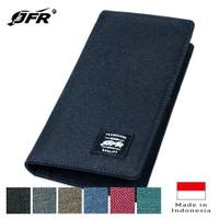 JFR Fashion Dompet Pria Bahan Kulit Canvas Bagus Murah Keren JP12 - Hitam