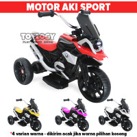 Mainan Anak Motor Aki Accu Sport Motorcycle PMB M888 Musik Ban Karet