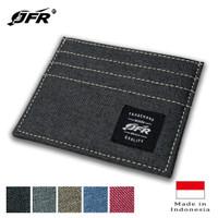 JFR Fashion Dompet Kartu Bahan Kulit Canvas CH02 - Hitam
