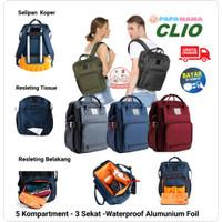 Tas Bayi Ransel Diaper Bag Papamama Clio1007 (FREE PERLAK COOLER BAG)
