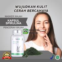 Masker Wajah Spirulina Tiens Masker Lumpur + Kuas Masker isi 50 kaps