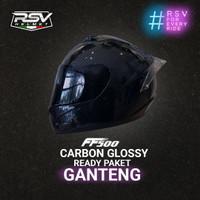 HELM RSV FF500 CARBON GLOSSY PAKET GANTENG VISOR TAMBAHAN + SPOILER