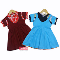Dress Nagita size 1-2 Tahun / Dres Anak Perempuan model overall