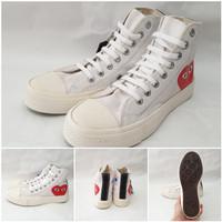 Sepatu Converse CDG High Hitam/Black Premium Quality