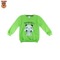 MacBee Sweater Anak Perempuan Animal Collection Panda You Go Girl - Hijau, SIZE 1