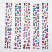Stiker Timbul BTS, Sticker Gabus BT21, Tempelan Buku, Aksesoris HP