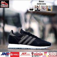 Sepatu Adidas New Haven Black Grey Original BNWB - Sneakers Adidas