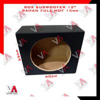 Box Full MDF Subwoofer 12 Inch Boks Sub Audio Mobil Tebal 15mm Hitam