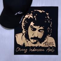 Kaos / Baju Distro Iwan Fals Orang Indonesia Aseli Gold Print