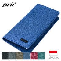 JFR Fashion Dompet Pria Panjang Bahan Kulit Canvas JP09 - Biru
