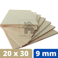 Papan MDF Premium Tebal 9 mm [20 X 30 CM]