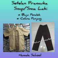 Setelan Pramuka Smp/Sma Laki Baju Pndek Celana Pnjang Seragam Sekolah - Kelas 1