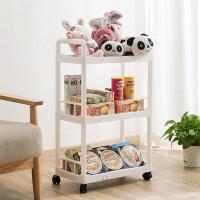 Rak Troli Serbaguna Rak Ruang Tamu Rak 3 tingkat Rak Dapur rak mainan