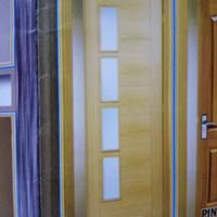 satu daun pintu ( kayu mahoni mulus )