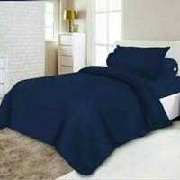 Bedcover Single Tanpa Sprei Ukuran 150x220 CM Warna Polos Harga Promo - Pink Muda