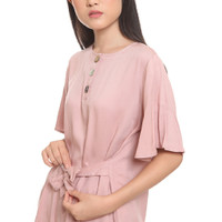 baju branded sale termurah baju pink - Merah Muda, 4