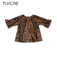 TORIO Smart Casual Gold Batik - Blouse Batik Anak Perempuan