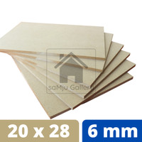 Papan MDF Premium Tebal 6 mm [20 X 28 CM]