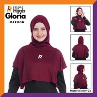 Rocella Sports - Hijab Sport Gloria - Jilbab Olahraga Instant - Maroon