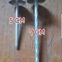 Paku Payung Asbes Panjang 5cm/ 7cm/ Paku Seng Atap 2 inch/ 3 Per 1Kg