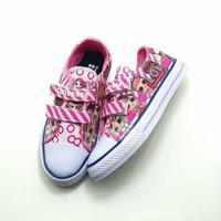 sepatu bayi perempuan converse lol velcro size 20-25 - 20