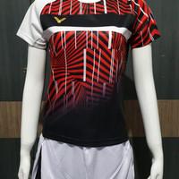 baju kaos badminton bulutangkis victor import cewek wanita v 3042B red