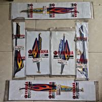 striping graphic Mio sporty 2006 cw original biru api full set