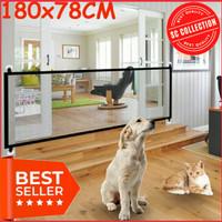 Magic Gate Pintu Jaring penghalang Pagar Kandang Kucing Anjing