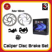 SYTE ST-H423 Caliper Disc Set Paket Kaliper Rotor Sepeda
