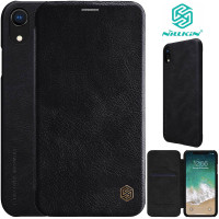 Nillkin Qin Flip Case iPhone XR - Leather Cover Stand Dompet Casing