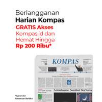 Koran + Ongkos Kirim, Bonus Kompas.id