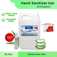 HAND SANITIZER 5 LITER CAIR (BUKAN GEL) ANTISEPTIC 70% BANYAK BONUS - aloe vera