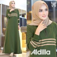 gamis maxi baju dress muslim santai simpel casual longdress terbaru