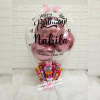 balloon box snacks/buket balon snacks/kado ultah/kado balon