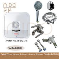 Water Heater Ariston 15L / Paket Instalasi Tanpa Bobok Lengkap