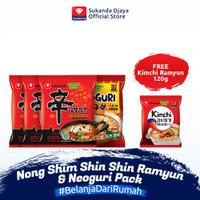 Nong Shim Shin Shin Ramyun & Neoguri Pack FREE Nong Shim Kimchi Ramyun