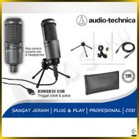 Mic Condenser Audio Technica AT2020 USB+ Mik Microphone Studio Ori