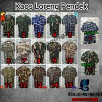 BAJU / KAOS OBLONG LORENG CAMO ARMY TNI Tentara Polisi MURAH BANDUNG