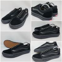 Sepatu Vans Old School Full Hitam Grade Ori ! - Hitam, 36