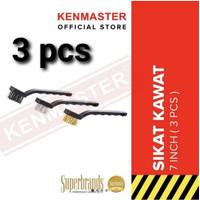 KENMASTER Sikat 3 in 1 set Kawat Mini Set 3pcs 3 pcs Sikat 3 in 1 set