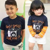 Baju Kaos Anak Hoofla Kids Couple Sarimbit Adik Kakak Laki Perempuan