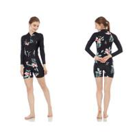 Baju renang wanita diving dewasa cewe motif corak